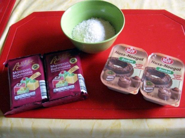 Marzipankartoffel mit Nougat - Rezept