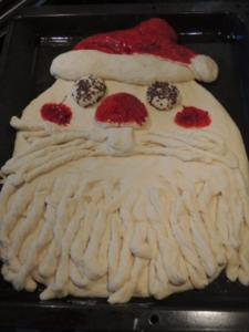 Weihnachtsmann Brot - Rezept