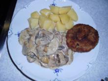 Bouletten / Frikadellen / Fleischpflanzerl nach Art von Stroganow - Rezept