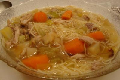 Gemüsesuppe mit Bio-Huhn - Rezept