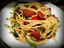 Spaghetti Rucola Pfanne - Rezept