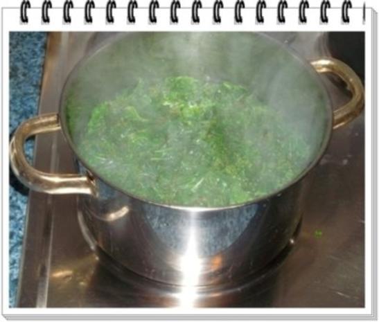 Grünkohl Cremesuppe mit Pinienkerne verfeinert - Rezept - Bild Nr. 4