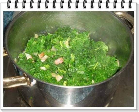 Grünkohl Cremesuppe mit Pinienkerne verfeinert - Rezept - Bild Nr. 6