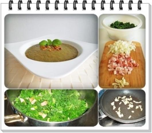 Grünkohl Cremesuppe mit Pinienkerne verfeinert - Rezept - Bild Nr. 10