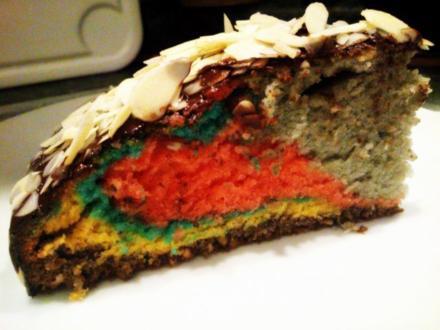 bunter Mandel-Haselnuss Kuchen - Rezept