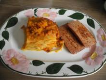 Vegan : Kürbis - Karotten -  Lasagne - Rezept