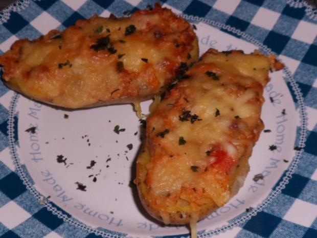 Beilagen: Mediterrane Ofenkartoffeln nach Bruschetta-Art - Rezept