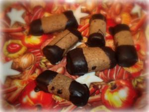 Weihnachtsplätzchen: Espresso-Schoko-Stangen - Rezept