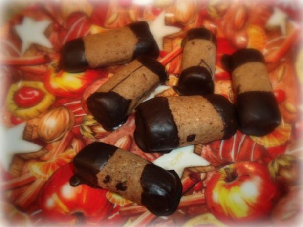 Weihnachtsplätzchen Mit Schokolade.Weihnachtsplätzchen Espresso Schoko Stangen