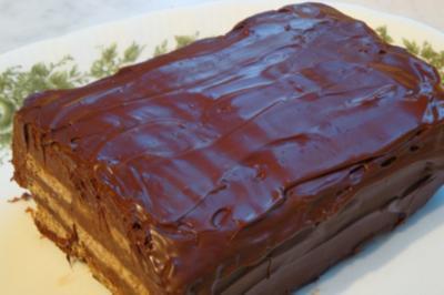 Schokoladen-Karrée mit Gewürzspekulatius - Rezept