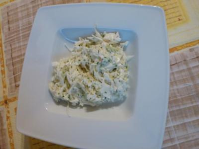 Schmandiger Weißkraut-Salat - Rezept