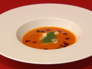 Kürbis-Ingwer-Suppe, dazu Weser-Zander - Rezept