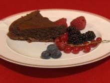 Lauwarme Schokoladen-Tarte - Rezept
