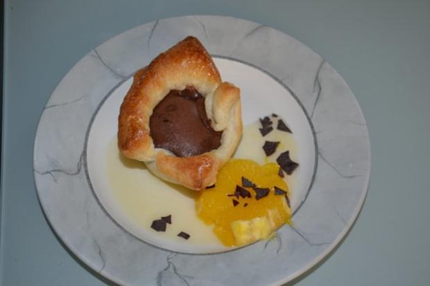 Schokotörtchen , weicher Kern und beschwipste Orangen - Rezept - Bild Nr. 8