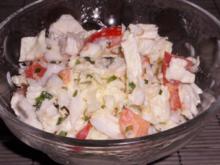 Salate/Beilagen: Einfacher Chinakohlsalat mit Tomaten und Zitronen-Joghurt-Dressing - Rezept