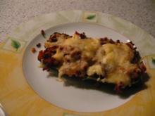 Gefüllte Zucchini mit Schafskäse - Rezept