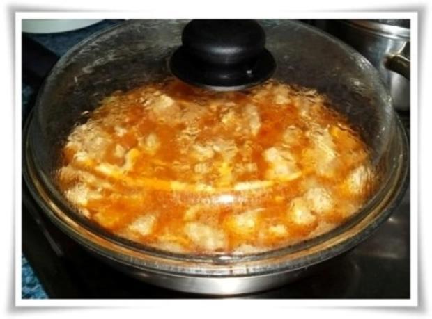 Deftiges Putengulasch natürlich mit selbstgemachten Pommes - Rezept - Bild Nr. 8