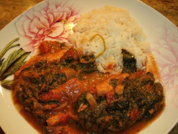 Indisches Hähnchen-Spinat-Curry - Rezept