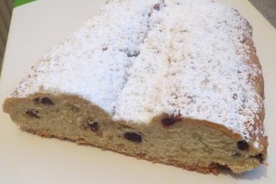 Backen: Butter-Stolle mit Cranberries (Weihnachtsstolle) - Rezept