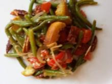 Bohnensalat mit Tomaten und Rinderfiletstreifen - Rezept