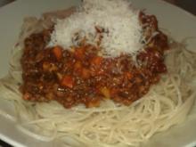 Veggie-Bolognese mit Dinkelspaghetti - Rezept