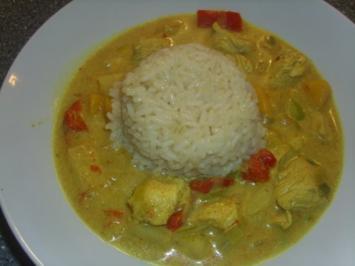 Rahmgeschnetzeltes mit Curry- Indisch - Rezept