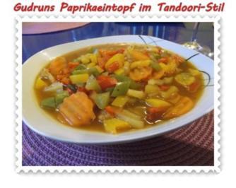 Eintopf: Paprikaeintopf im Tandooristil - Rezept