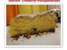 Kuchen: Cranberry-Marzipankuchen - Rezept