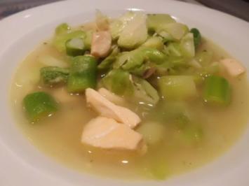 Eintopf: Rosenkohl-Grüner Spargel-Topf mit Lachs - Rezept