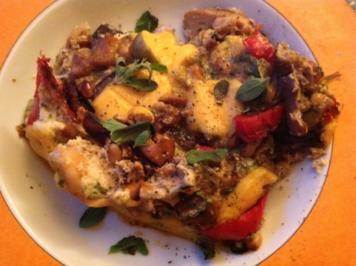 Gemüseomlette mit Sardinen - Rezept