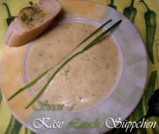 Rezept: Käse Lauch Suppe mit Hack