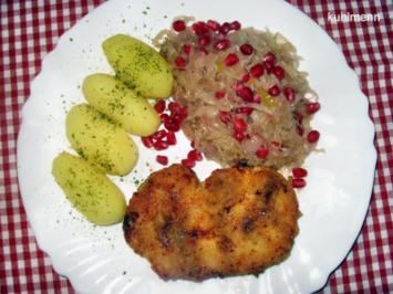 Sauerkraut mit Granatapfel - Rezept