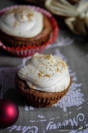 Rezept: Lebkuchencupcakes mit Spekulatiustopping