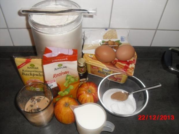 winterliche Muffin mit Bratapfelstücken - Rezept - Bild Nr. 3