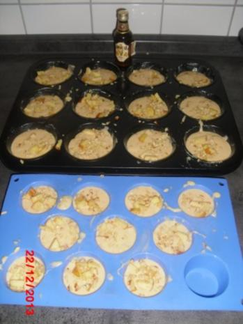 winterliche Muffin mit Bratapfelstücken - Rezept - Bild Nr. 9