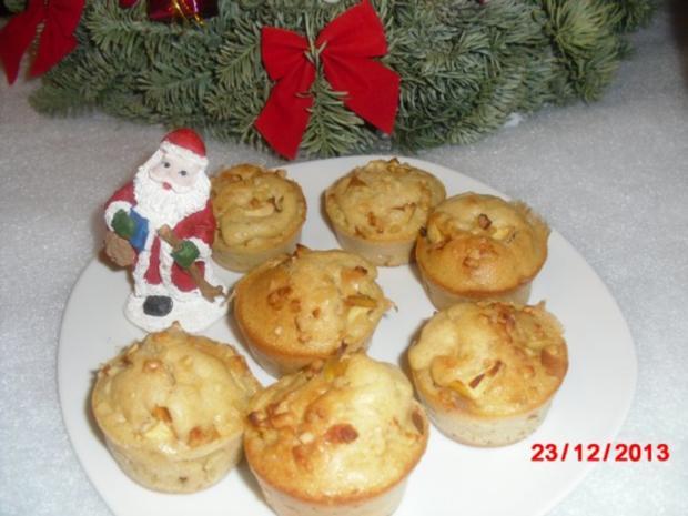 winterliche Muffin mit Bratapfelstücken - Rezept - Bild Nr. 2