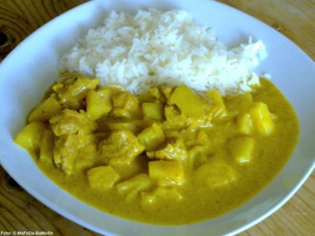 Fruchtiges Curry-Gulasch - Rezept