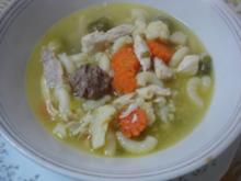 Hühner-Nudel-Gemüse-Mettbällchen-Eintopf - Rezept