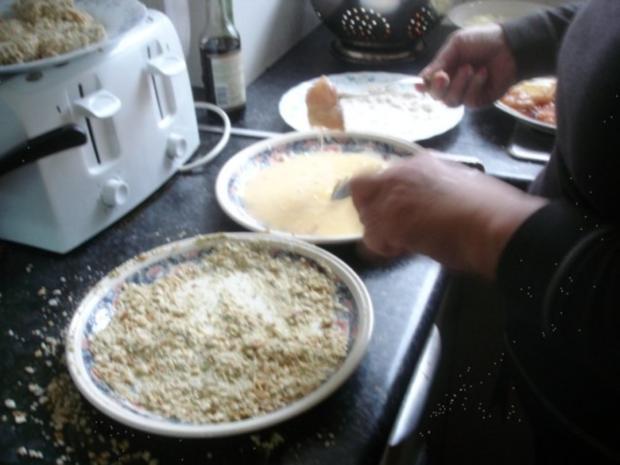 Hähnchennuggets mit Sellerie-Kartoffelstampf und Wok-Gemüse - Rezept - Bild Nr. 8