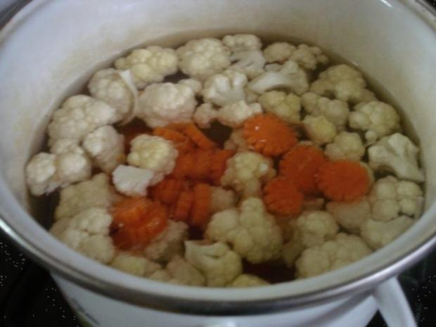 Hähnchennuggets mit Sellerie-Kartoffelstampf und Wok-Gemüse - Rezept - Bild Nr. 11