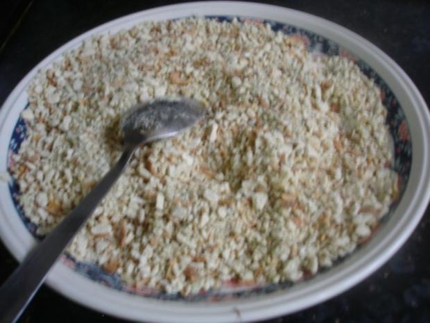 Hähnchennuggets mit Sellerie-Kartoffelstampf und Wok-Gemüse - Rezept - Bild Nr. 7
