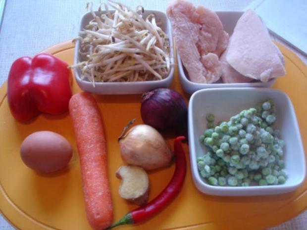 Chinesische Nudeln mit Hähnchenbrustfilet und Gemüse - Rezept - Bild Nr. 2