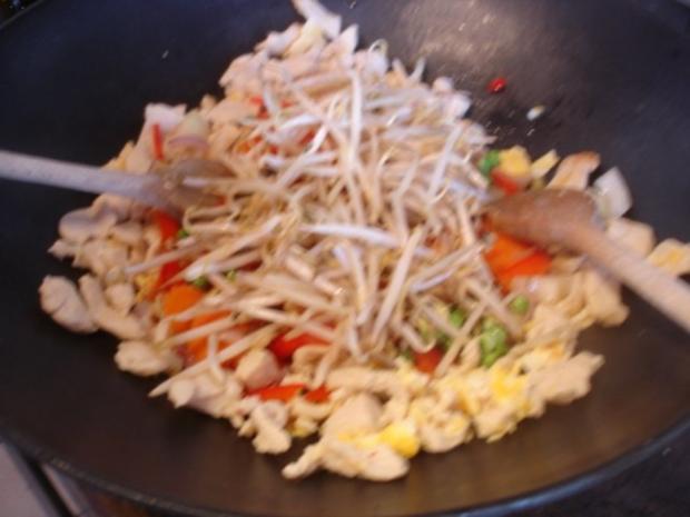 Chinesische Nudeln mit Hähnchenbrustfilet und Gemüse - Rezept - Bild Nr. 13