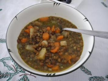 Vegan : Linsensuppe - Rezept