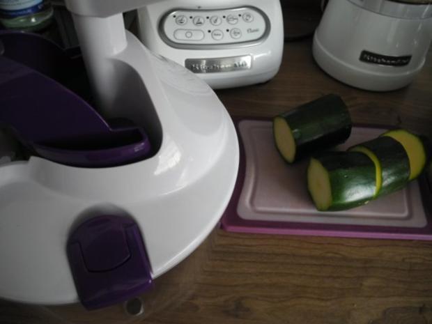 Vegan : Zucchini - Bratlinge - Rezept - Bild Nr. 4
