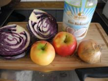 Vegan : Apfelrotkohl oder auch Blaukraut - Rezept