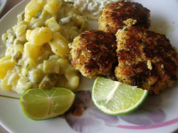 Fischfrikadellen mit Kartoffelsalat und Remouladensoße-unser Essen am Heiligen Abend - Rezept - Bild Nr. 7