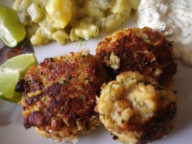 Fischfrikadellen mit Kartoffelsalat und Remouladensoße-unser Essen am Heiligen Abend - Rezept - Bild Nr. 8