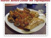 Fisch: Berbere-Zander mit Paprikagemüse und Kartoffelspalten - Rezept