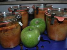 Bratapfelkuchen im Glas - Rezept